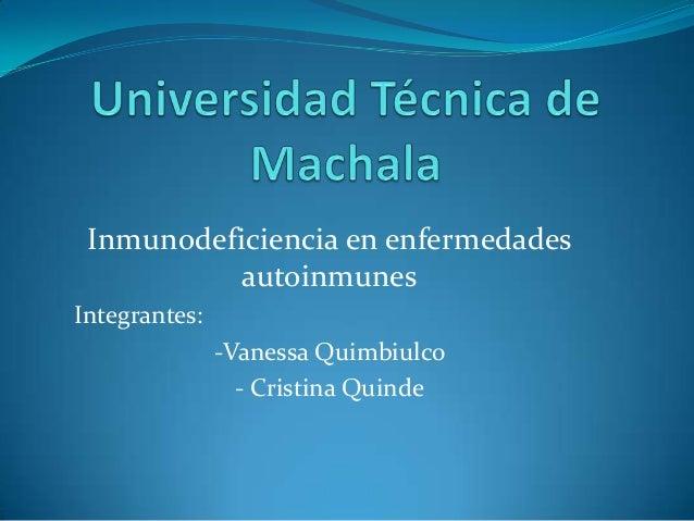 Diapositivas biogenetiva inmunodeficiencia a las enfermedades autoinmunes