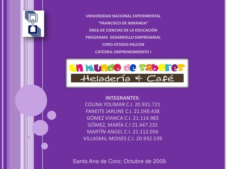 """UNIVERSIDAD NACIONAL EXPERIMENTAL<br />""""FRANCISCO DE MIRANDA""""<br />ÁREA DE CIENCIAS DE LA EDUCACIÓN<br />PROGRAMA  DESARRO..."""