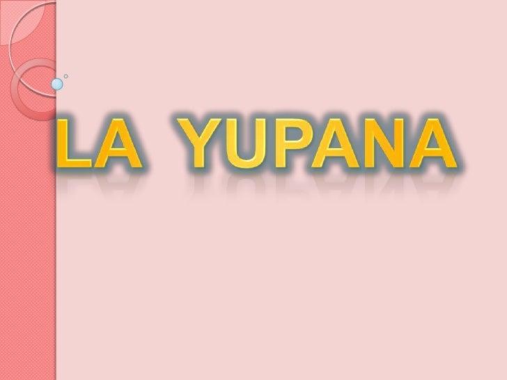LA  YUPANA<br />