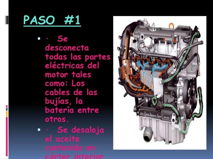 Diapositivas Del Desarme De Un Motor