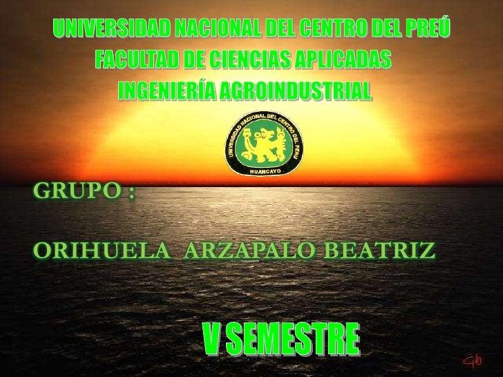 GRUPO :ORIHUELA ARZAPALO BEATRIZ