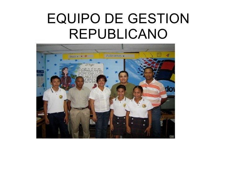EQUIPO DE GESTION REPUBLICANO