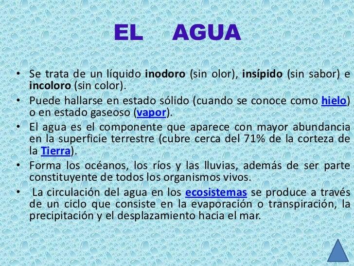 Diapositivas el agua for Inodoro significado
