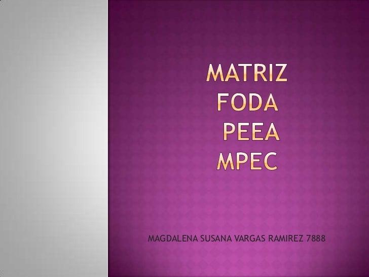 matriz fodapeeampec<br />MAGDALENA SUSANA VARGAS RAMIREZ 7888<br />
