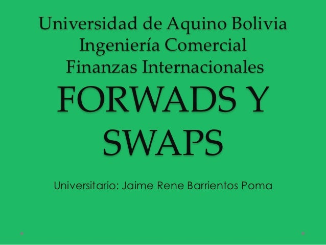 Diapositivas - forward y swaps