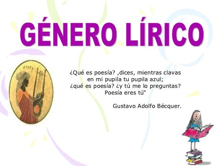 Diapositivas genero lirico