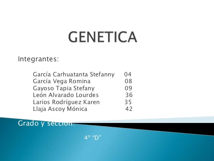 Integrantes:    García Carhuatanta Stefanny   04    García Vega Romina            08    Gayoso Tapia Stefany          09  ...