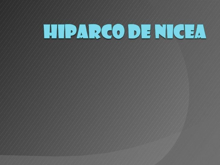 Diapositivas hiparco de nicea