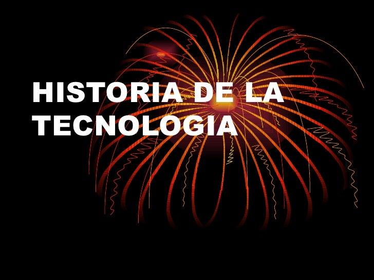 HISTORIA DE LA TECNO