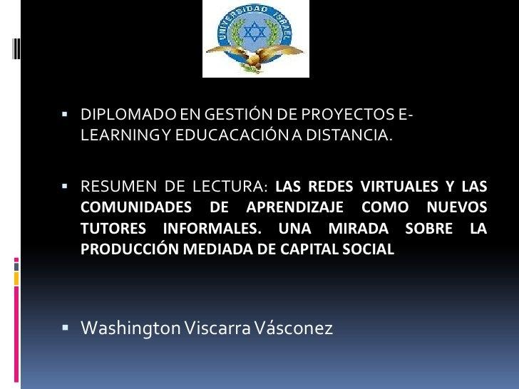 Diapositivas las redes virtuales
