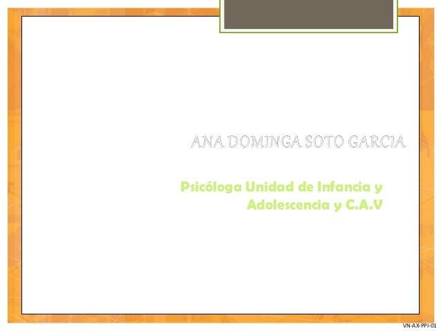 VN-AX-PPI-01 Psicóloga Unidad de Infancia y Adolescencia y C.A.V