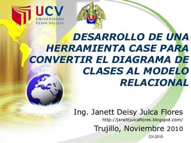 Ing. Janett Deisy Julca Flores http://janettjulcaflores.blogspot.com/ Trujillo, Noviembre 2010 DESARROLLO DE UNA HERRAMIEN...