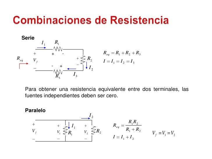 Serie               I1       R1                     +        -                            Req        R1        R2        R...