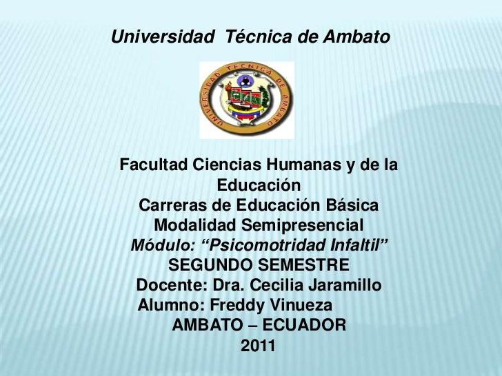 Universidad Técnica de AmbatoFacultad Ciencias Humanas y de la            Educación  Carreras de Educación Básica    Modal...