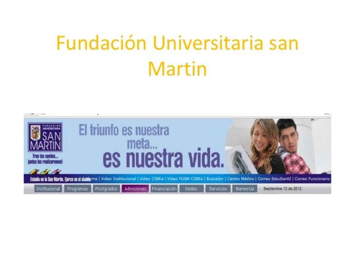 Fundación Universitaria san         Martin
