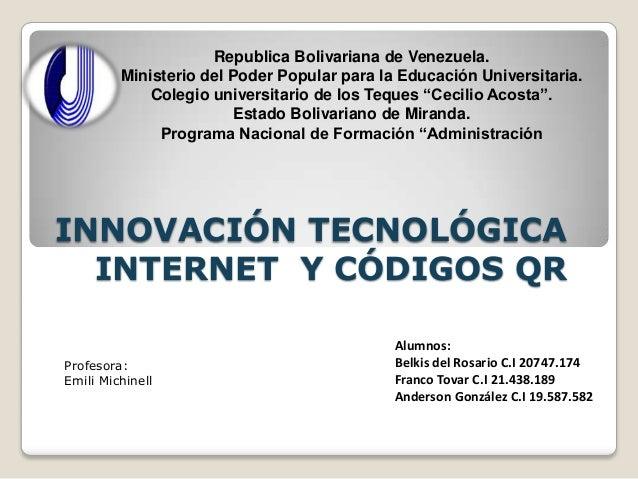 Diapositivas de Innovacion Tecnologica tic expo