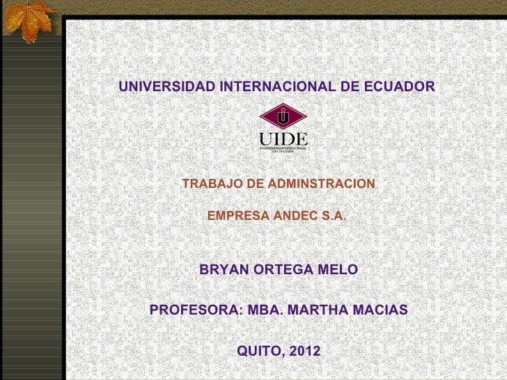 UNIVERSIDAD INTERNACIONAL DE ECUADOR                                             TRABAJO DE ADMINSTRACION          EMPRE...