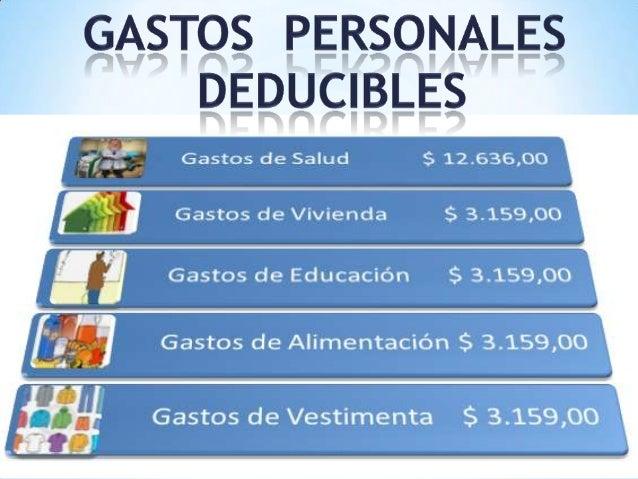GASTOS PERSONALESLos Gastos Personales Deducibles del pago delImpuesto ...