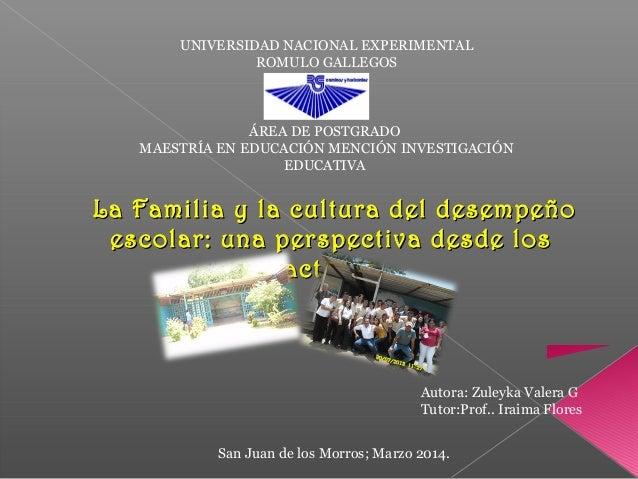 UNIVERSIDAD NACIONAL EXPERIMENTAL  ROMULO GALLEGOS  ÁREA DE POSTGRADO  MAESTRÍA EN EDUCACIÓN MENCIÓN INVESTIGACIÓN  EDUCAT...