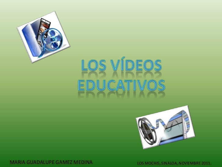 Diapositiva video educativo