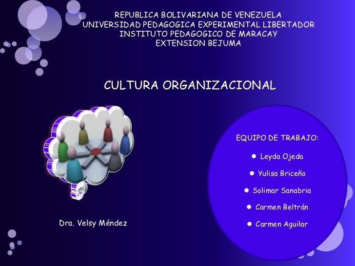 REPUBLICA BOLIVARIANA DE VENEZUELA     UNIVERSIDAD PEDAGOGICA EXPERIMENTAL LIBERTADOR            INSTITUTO PEDAGOGICO DE M...