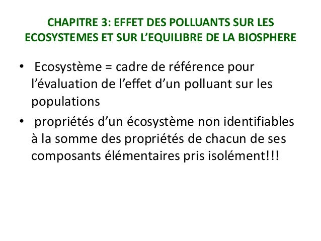Diapositives ecotoxicologie