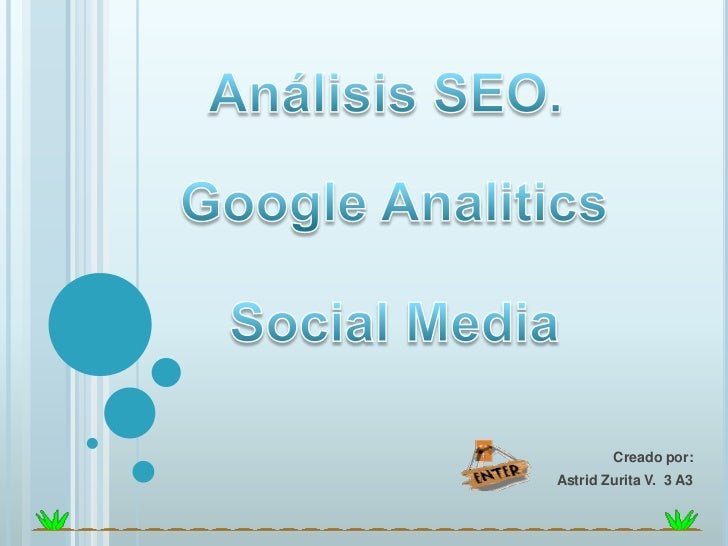 Analisis seo, google analitics, social media