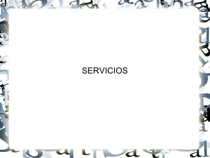 Diapositivos Servicios