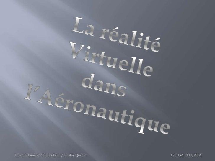 Foucault Simon / Cuinier Léna / Goulay Quentin   Istia Ei2 ( 2011/2012)