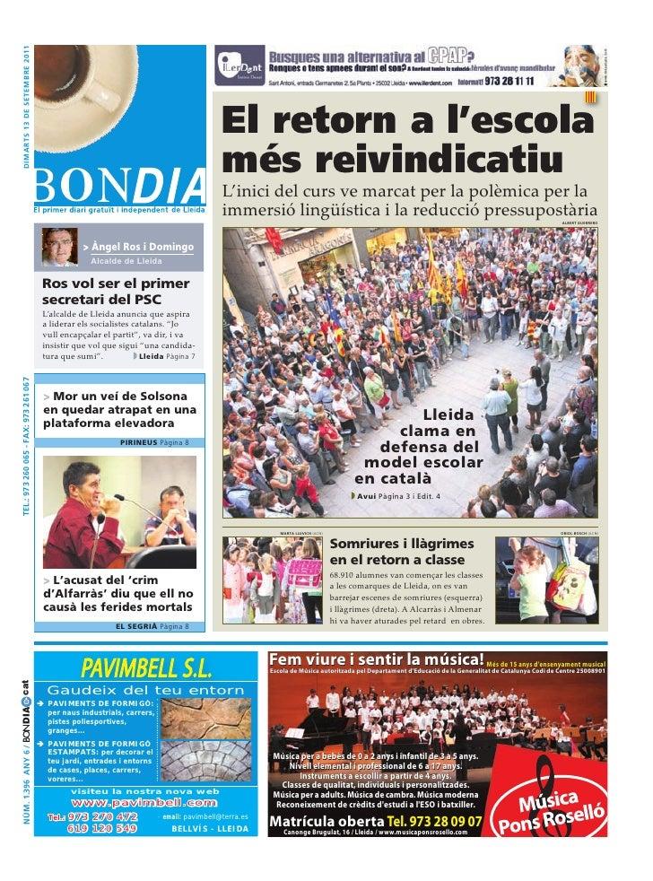dimarts 13 de setembre 2011                                                                                       El retor...