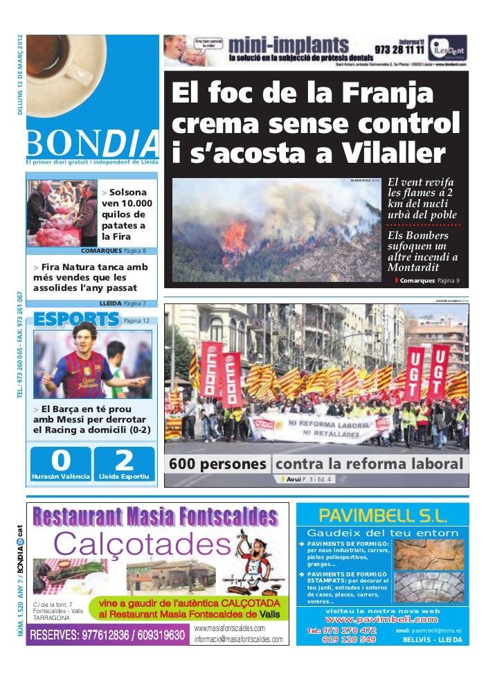 dilluns 12 DE març 2012                                                                                     El foc de la F...