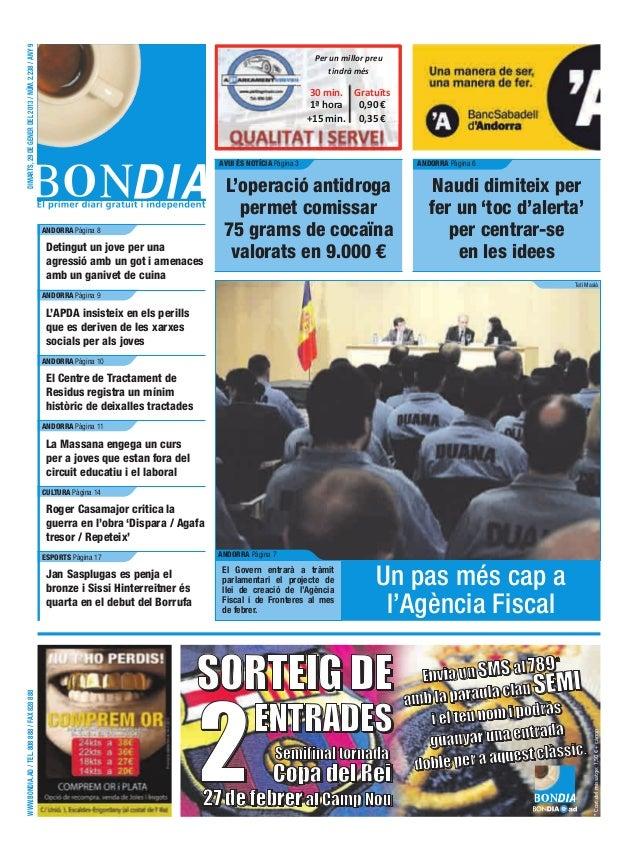 DIMARTS, 29 DE GENER DEL 2013 / NÚM. 2.238 / ANY 9                                                                        ...
