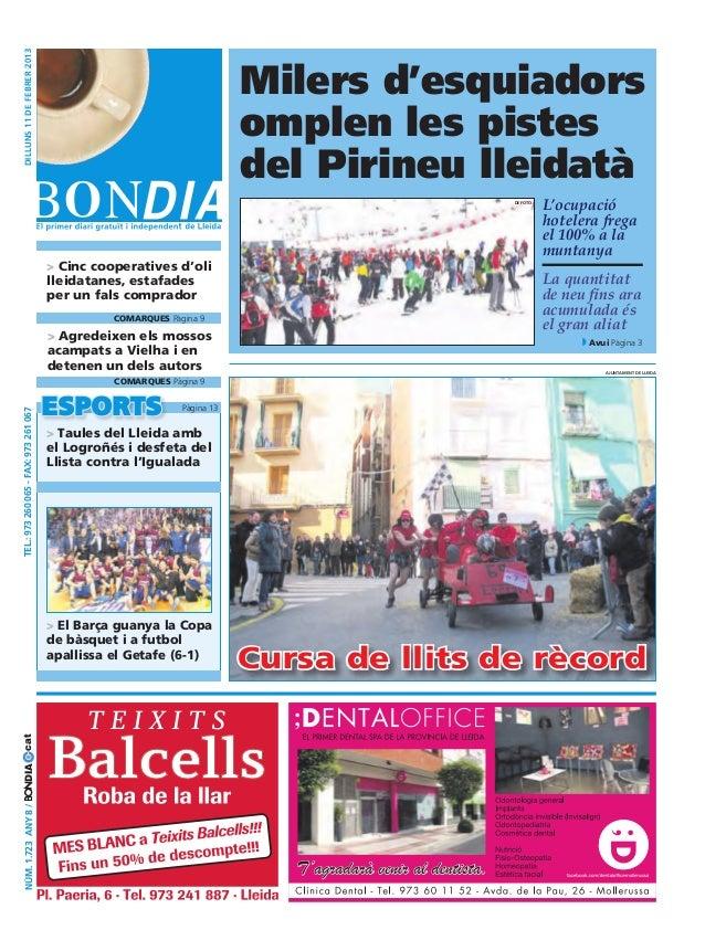 Bondia Lleida 11/02/2013