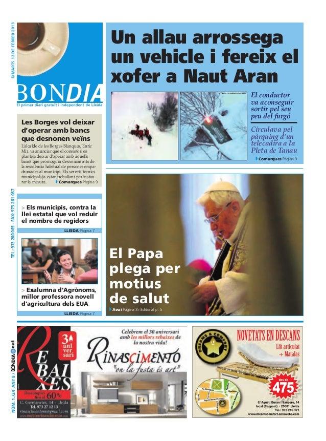Bondia Lleida 12/02/2013