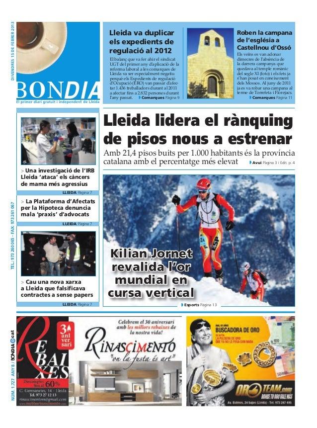 divendres 15 DE febrer 2013                                                                           Lleida va duplicar  ...