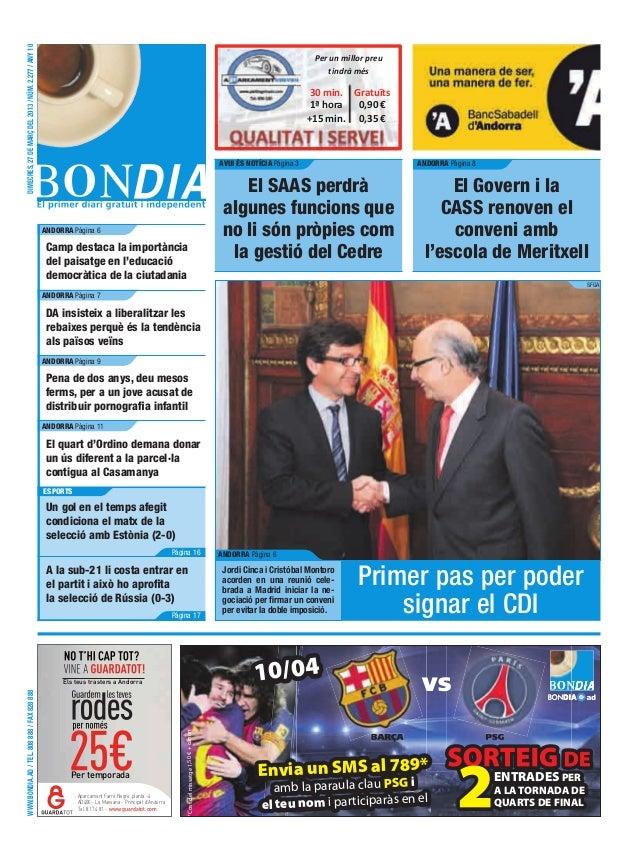 DIMECRES, 27 DE MARÇ DEL 2013 / NÚM. 2.277 / ANY 10                                                                       ...