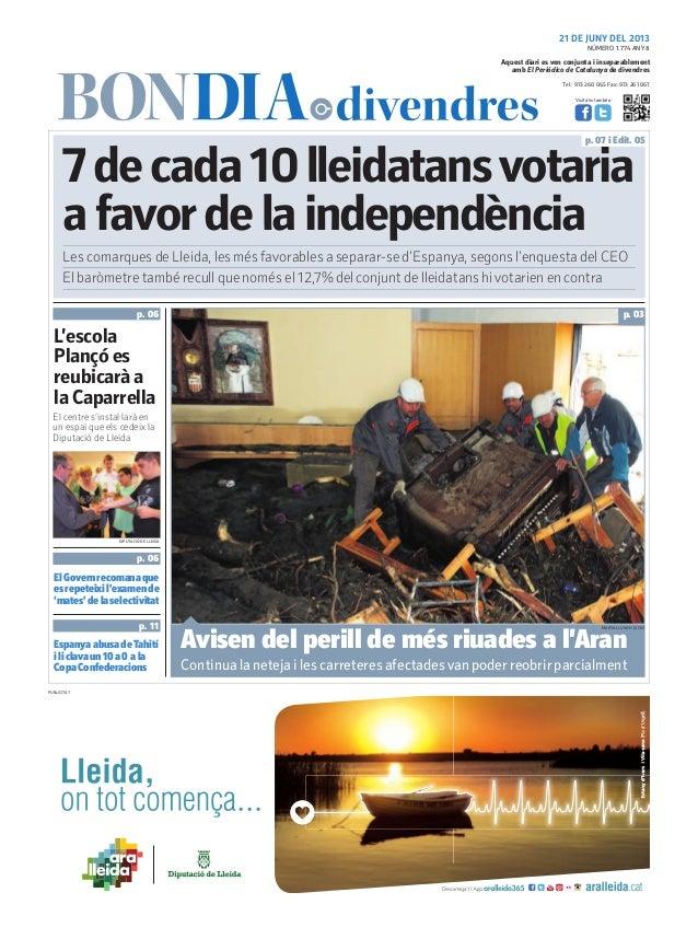 Tel.: 973 260 065 Fax: 973 261 067Visita'ns també a:Aquest diari es ven conjunta i inseparablementamb El Periódico de Cata...