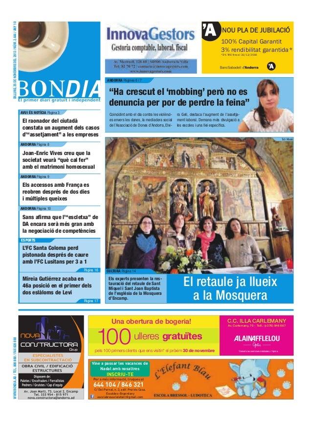 dilluns, 25 de novembre del 2013 / núm. 2.444 / any 10  NOU PLA DE JUBILACIÓ 100% Capital Garantit 3% rendibilitat garanti...