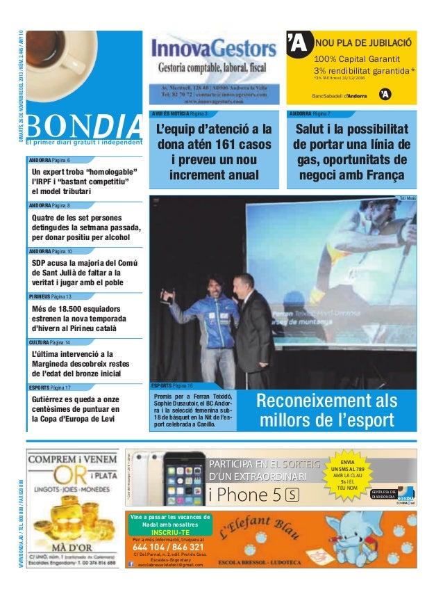dimarts, 26 de novembre del 2013 / núm. 2.445 / any 10  NOU PLA DE JUBILACIÓ 100% Capital Garantit 3% rendibilitat garanti...