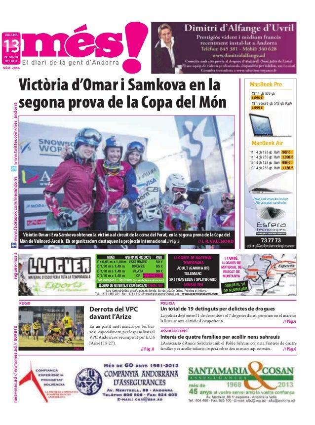 """dilluns  13 de gener del 2014  Victòria d'Omar i Samkova en la segona prova de la Copa del Món  13"""" 4 gb 500 gb 1.095 € 13..."""