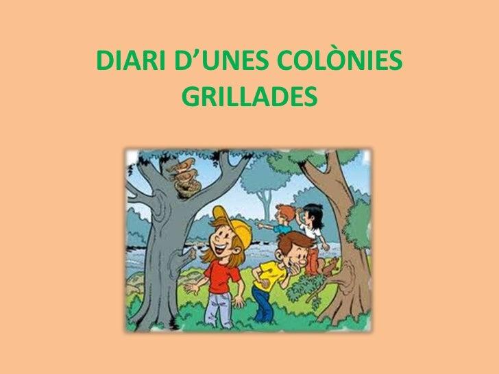DIARI D'UNES COLÒNIES      GRILLADES