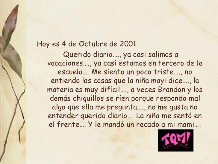 de 2001 Querido Diario…