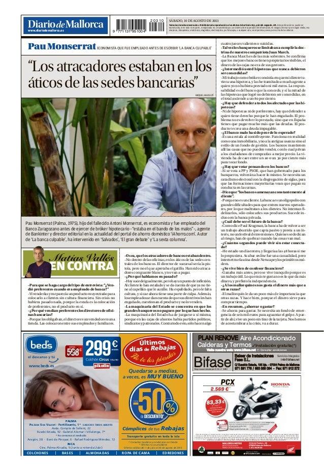 Pau A. Monserrat es entrevistado por Matías Vallés
