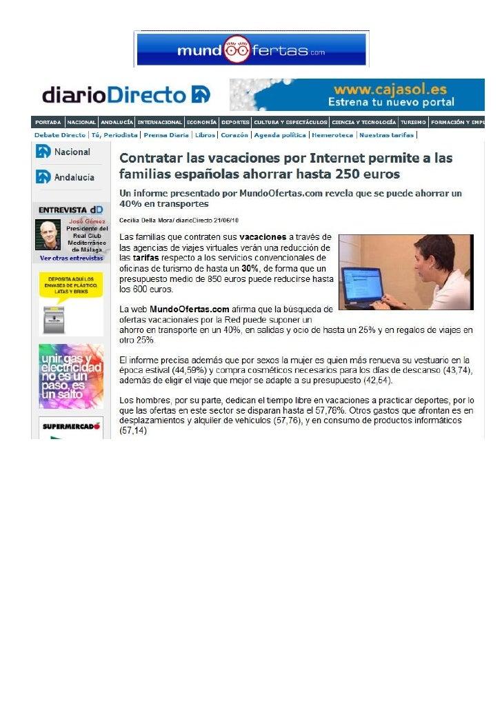 Aparicion MundoOfertas en Diariodirecto.com