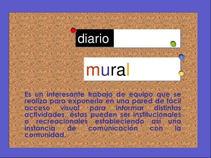 Diario mural for Estructura de un periodico mural