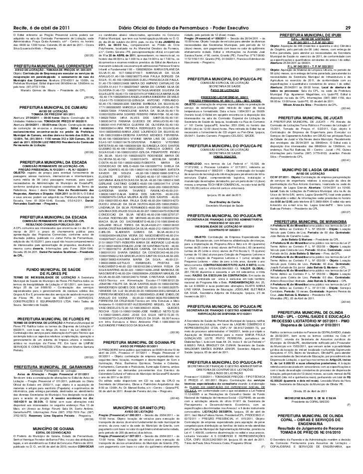 Diário Oficial 06-04-2011
