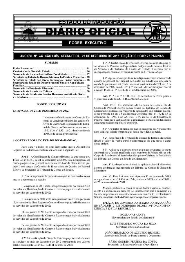 ESTADO DO MARANHÃO                                          DIÁRIO OFICIAL                                                ...