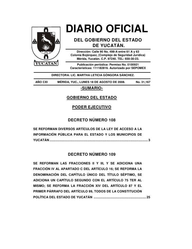 Diario Oficial De 18 De Agosto De 2008