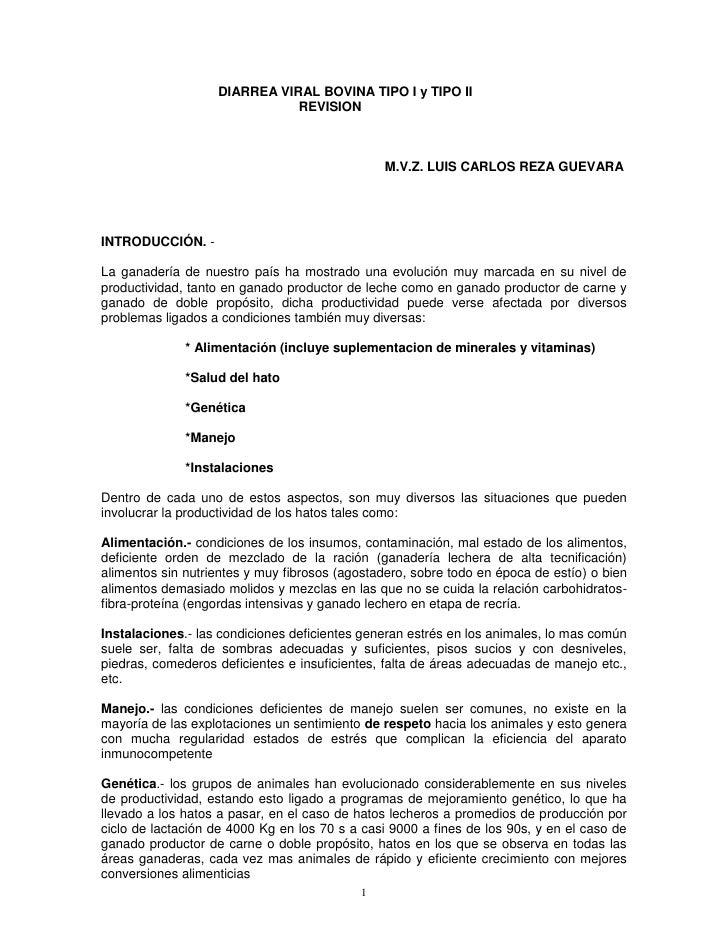 DIARREA VIRAL BOVINA TIPO I y TIPO II                               REVISION                                              ...