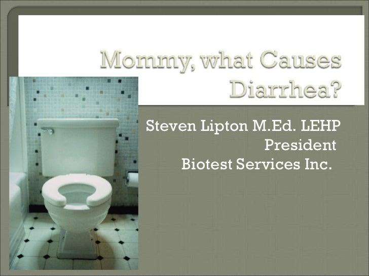 What causes Diarrhea IEHA 2008